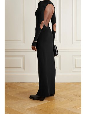 Givenchy open-back cutout knitted maxi dress