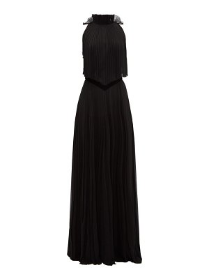 Givenchy open-back pleated silk-chiffon gown