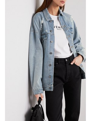 Givenchy oversized distressed denim jacket