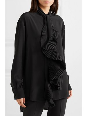 Givenchy oversized ruffle-trimmed silk crepe de chine blouse