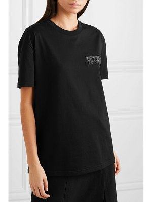 Givenchy oversized sequin-embellished cotton-jersey t-shirt