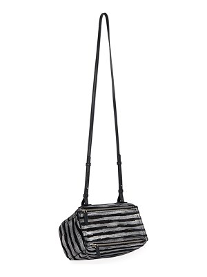 Givenchy Pandora Mini Striped Crossbody Bag