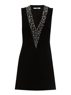 Givenchy pearl embroidered velvet mini dress