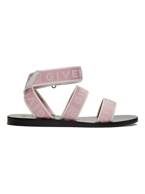Givenchy pink 4g ankle strap sandals