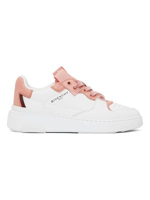Givenchy pink and white wing sneakers