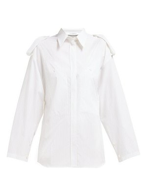 Givenchy pinstriped shoulder epaulette cotton shirt