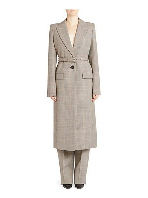 Givenchy plaid belted long coat