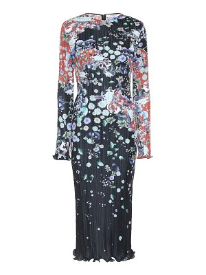 Givenchy pleated floral satin dress