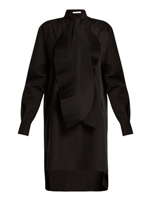 Givenchy pleated ruffle cotton shirtdress