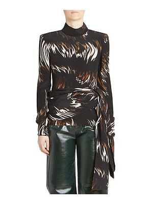Givenchy print silk sash top