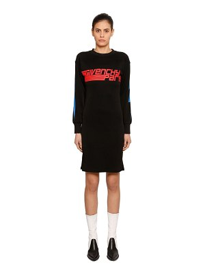 Givenchy Printed cotton blend sweatshirt dress