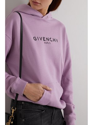 Givenchy printed cotton-jersey hoodie