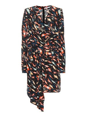 Givenchy Printed silk wrap dress