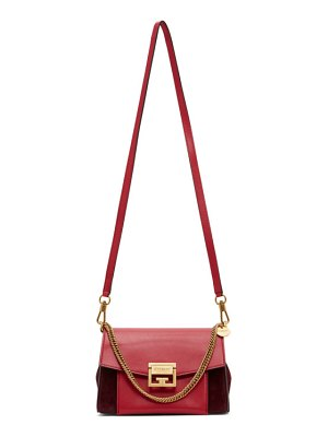 Givenchy red and burgundy small gv3 bag