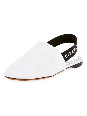 Givenchy Rivington Quilted Slingback Flats