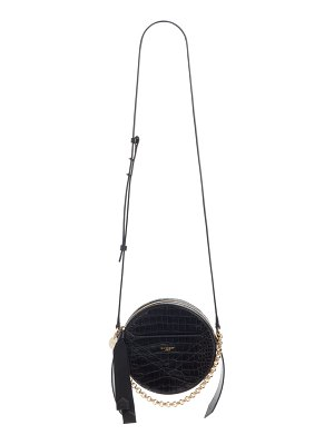 Givenchy round eden crocodile embossed leather crossbody bag