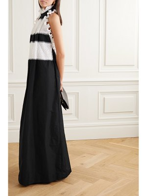 Givenchy ruffled taffeta and lace halterneck gown