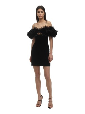 Givenchy Ruffled velvet mini dress