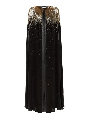 Givenchy sequinned silk-chiffon cape