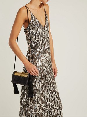Givenchy sequined v neck cotton and tulle gown