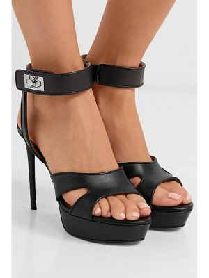Givenchy shark lock cutout leather platform sandals