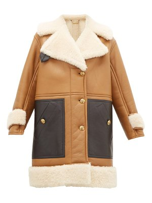 Givenchy shearling leather-panelled coat