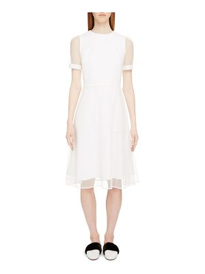 Givenchy sheer overlay stretch cady dress