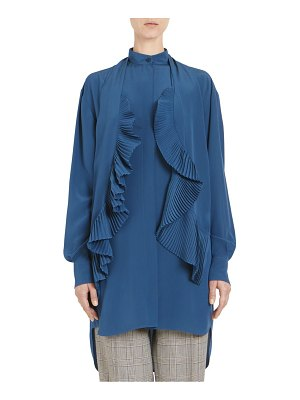 Givenchy silk crepe de chine ruffled blouse
