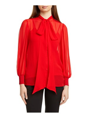 Givenchy silk georgette blouse with removable tie