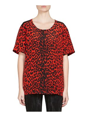Givenchy silk leopard print top