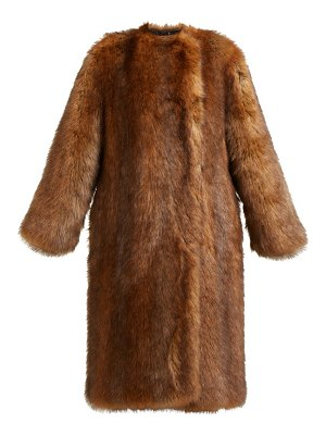 Givenchy Single Breasted Faux Fur Coat