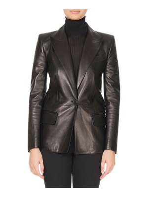 Givenchy Single-Breasted Soft Leather Blazer