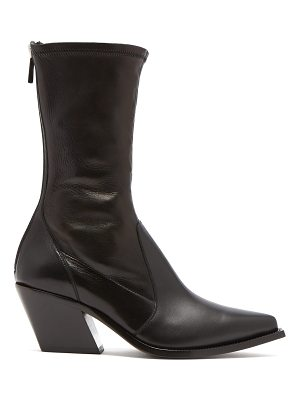 Givenchy Slant Heel Leather Boots