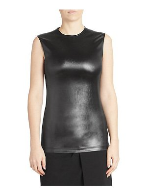Givenchy sleeveless faux leather top
