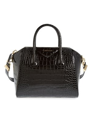 Givenchy small antigona croc embossed calfskin satchel