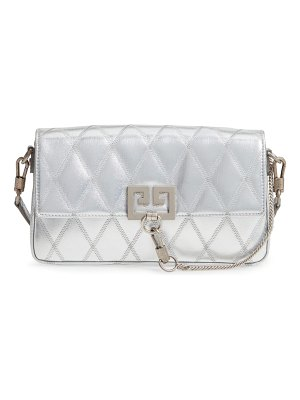 Givenchy small charm metallic quilted shoulder bag