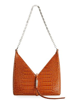 Givenchy Small Cutout Shoulder Bag in Crocodile-Embossed Leather with Chain