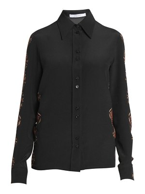 Givenchy snakeskin-print wool button-down shirt