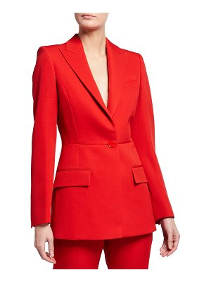 Givenchy Solid Wool One-Button Peplum Jacket