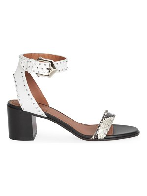 Givenchy studded snakeskin & leather sandals