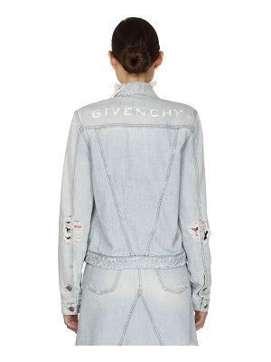 Givenchy Super bleach vintage denim jacket w/logo