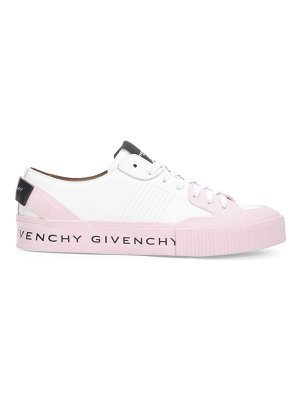 Givenchy tennis logo leather sneakers