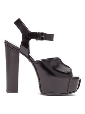 Givenchy topstitched patent-leather platform sandals
