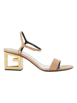 Givenchy Triangle cutout heel leather sandal
