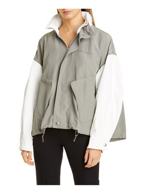 Givenchy two-tone cotton blend jacket