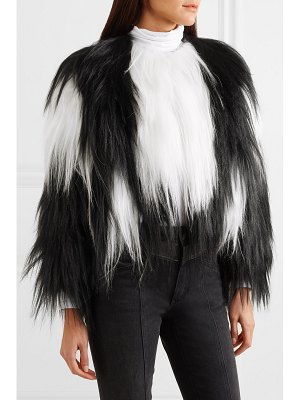 Givenchy two-tone goat hair coat