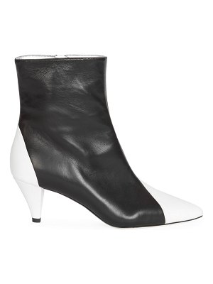 Givenchy two-tone soft leather ankle boots