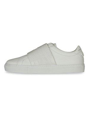 Givenchy urban street croc-embossed strap leather sneakers
