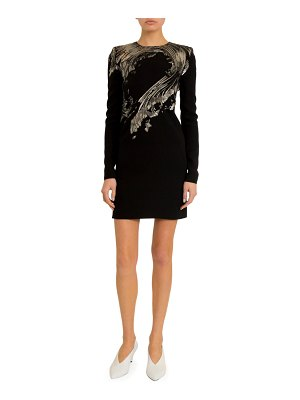 Givenchy Wave-Embroidered Sequined Mini Dress