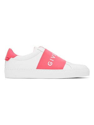 Givenchy white and pink webbing urban knots sneakers